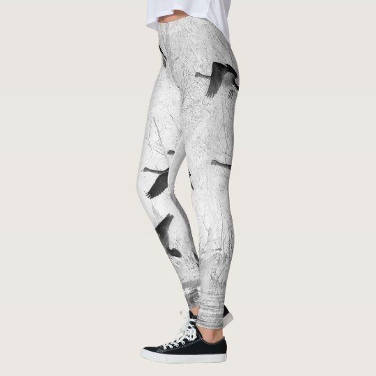 Swan Birds Wildlife All Over Print Leggings