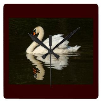 Swan Birds Wildlife Animals Clock