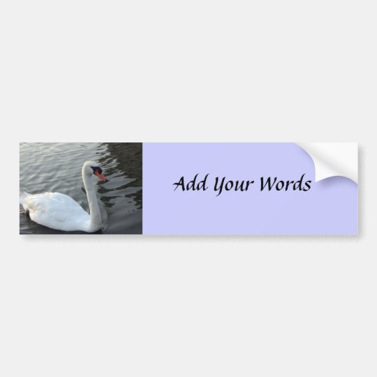 Swan Bumper Sticker