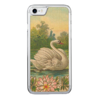 Swan Carved iPhone 7 Case