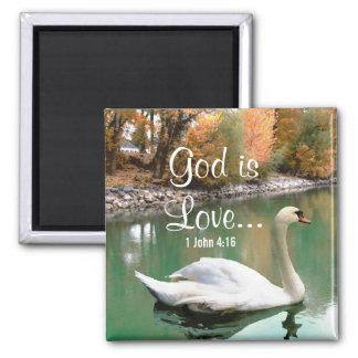Swan Christian Magnet