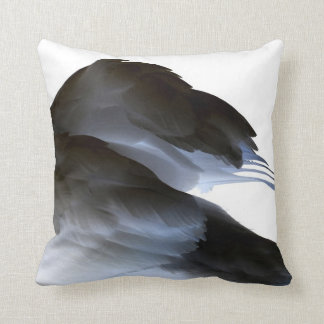 swan clipped wings invert abstract bird throw pillow