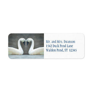 Swan Country Wedding Labels