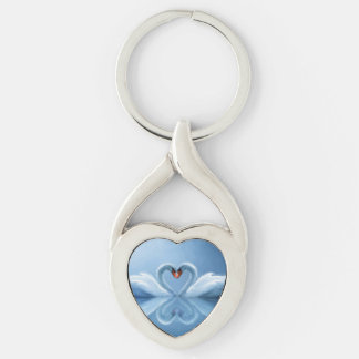 Swan Eternal Love Keychain