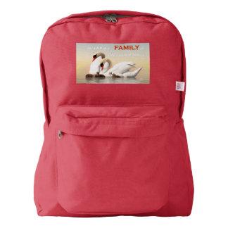 Swan family backpack