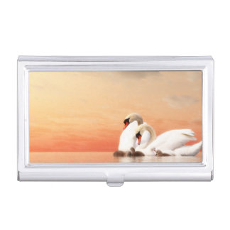 Swan family business card holder