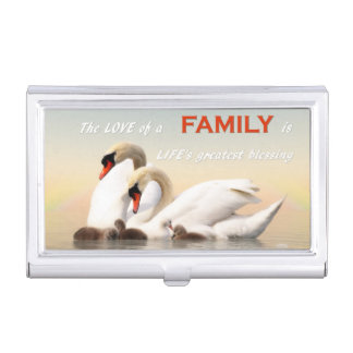 Swan family business card holders