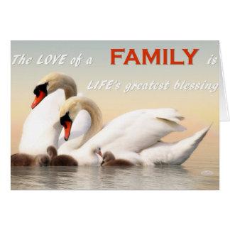Swan family card