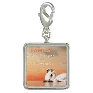 Swan family charm