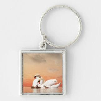Swan family keychain