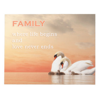 Swan family notepad