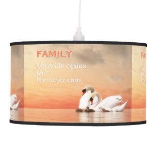 Swan family pendant lamp