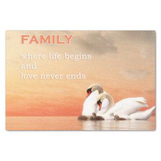 Swan family tissue paper