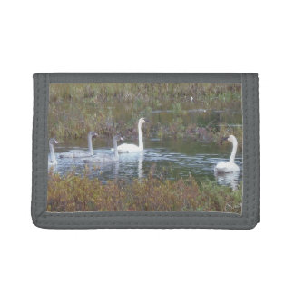 Swan Family TriFold Nylon Wallet