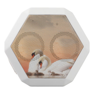 Swan family white bluetooth speaker