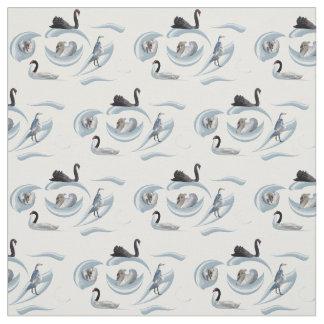 Swan Frenzy Fabric (choose colour)