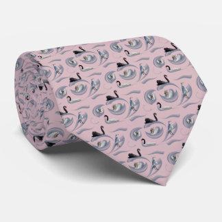 Swan Frenzy Tie Double Sided Print (Dusty Pink)