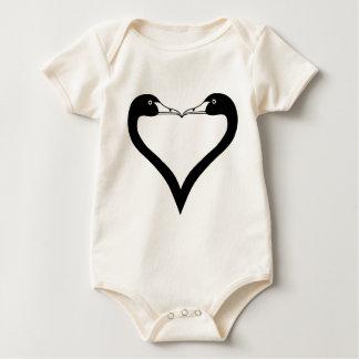 Swan Heart Baby Bodysuit