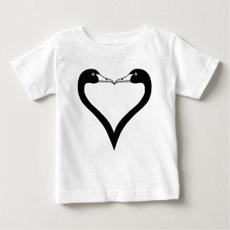 Swan Heart Baby T-Shirt