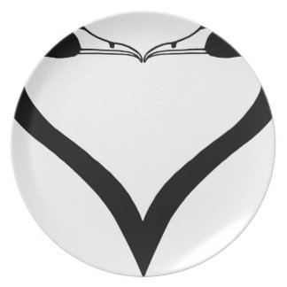 Swan Heart Plate