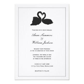 Swan Heart Wedding Invitation