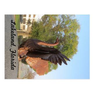 Swan in Flight Statue Lakeland, Florida Postcard