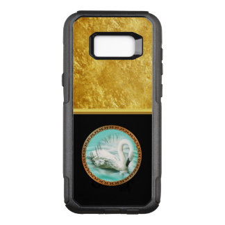Swan in turquoise water with Gold and black design OtterBox Commuter Samsung Galaxy S8+ Case
