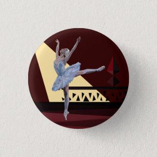 'Swan Lake Ballerina' 1 Inch Round Button