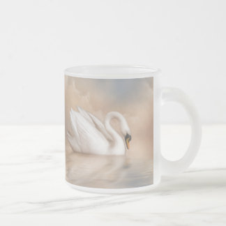Swan Lake Frosted Glass Coffee Mug