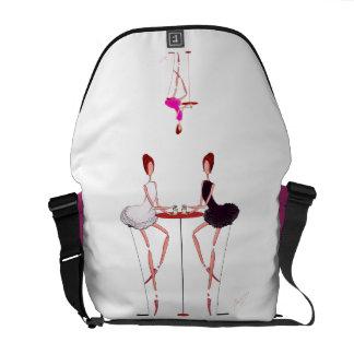 SWAN LAKE- ODETTE ODILE BALLERINAS BALLET BAG COURIER BAGS