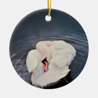 Swan · Lake Round Ceramic Ornament