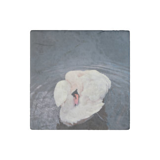 Swan · Lake Stone Magnets