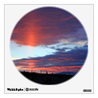 Swan Lake Sunset Wall Sticker
