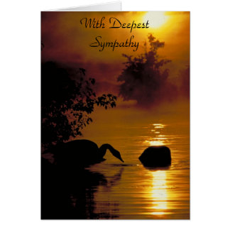 Swan Lake, With Deepest Sympathy Card