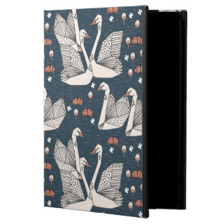 Swan Lily Pond Geo Dark Blue Navy / Andrea Lauren Cover For iPad Air