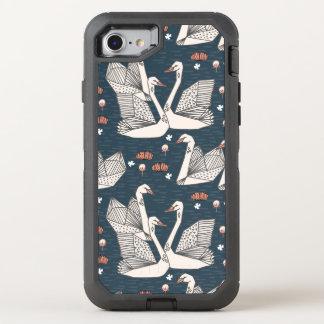Swan Lily Pond Geo Dark Blue Navy / Andrea Lauren OtterBox Defender iPhone 7 Case
