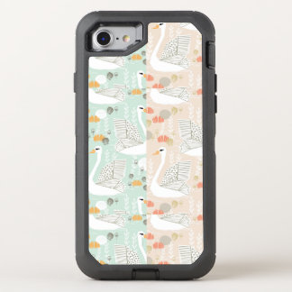 Swan Lily Pond Geo Multi Collage / Andrea Lauren OtterBox Defender iPhone 7 Case