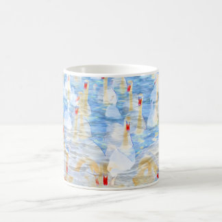 Swan Loch Swans Art Coffee Mug