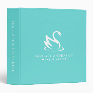 Swan Logo on Robin Egg Blue Binder