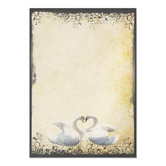 Swan Love Birds  Wedding Invitations