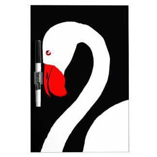 swan on lake dry erase board