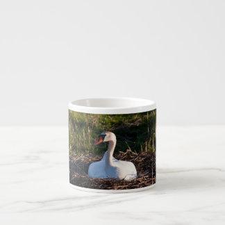 Swan on nest espresso mug