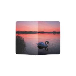 Swan on the lake passport holder