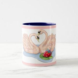 Swan Pair Two-Tone Coffee Mug