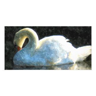 Swan Photo Greeting Card