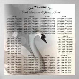 Swan Princess Elegant Wedding Table Seat Poster