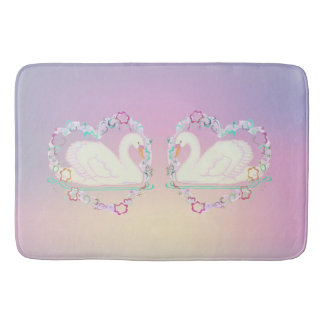 Swan Princess (lilac) bath mat