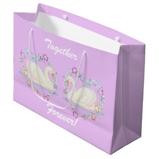 Swan Princess (lilac) large gift bag