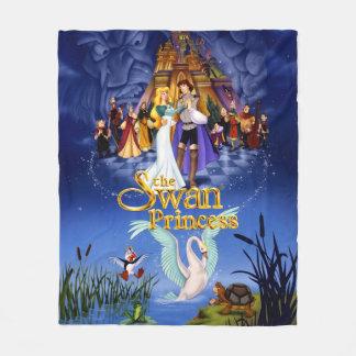 Swan Princess Movie Poster Fleece Blanket