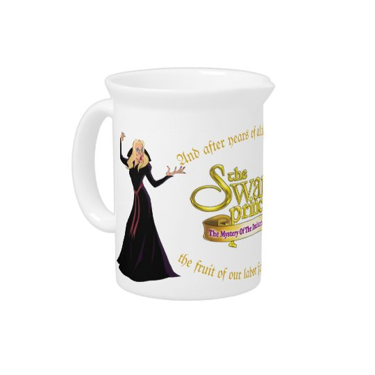 Swan Princess Rothbart & Zelda Porcelain Pitcher